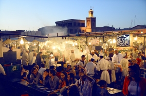 cooking with gas on Djemaa el Fna...